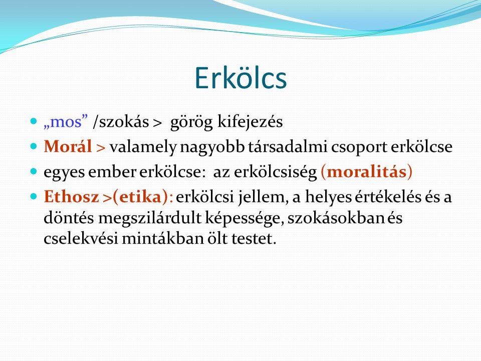 """Erkölcs """"mos /szokás > görög kifejezés"""