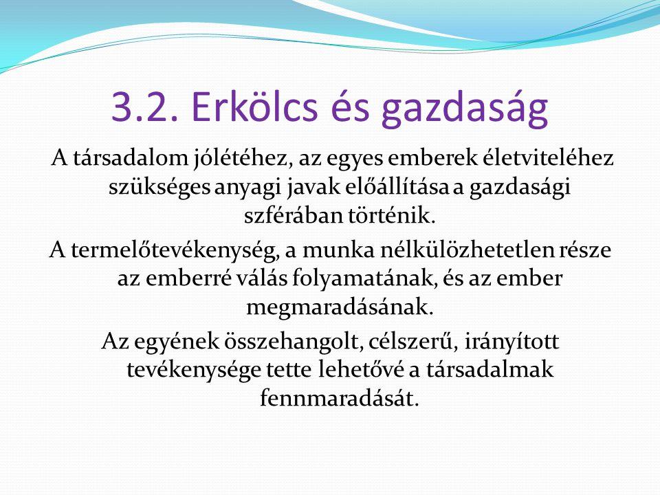 3.2. Erkölcs és gazdaság