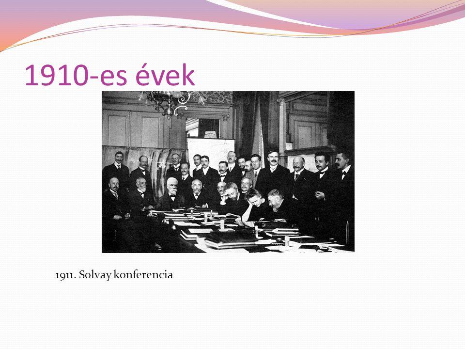 1910-es évek 1911. Solvay konferencia