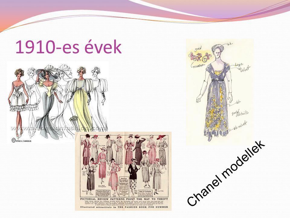 1910-es évek Chanel modellek