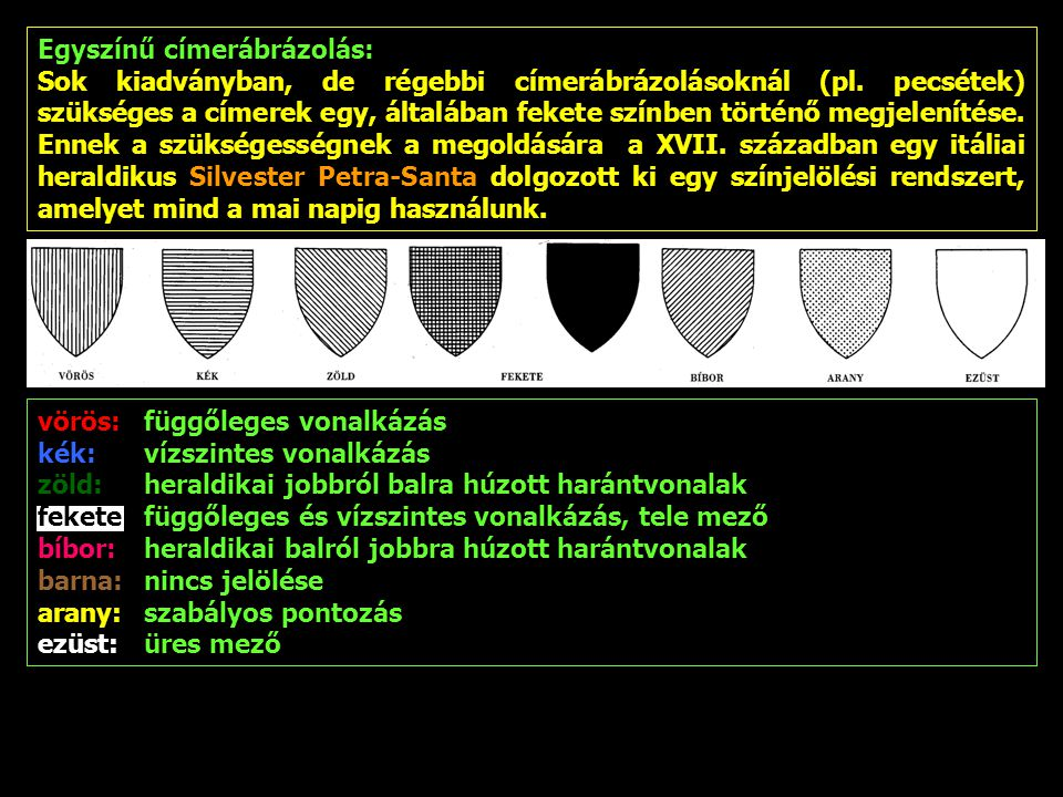Egyszínű címerábrázolás: