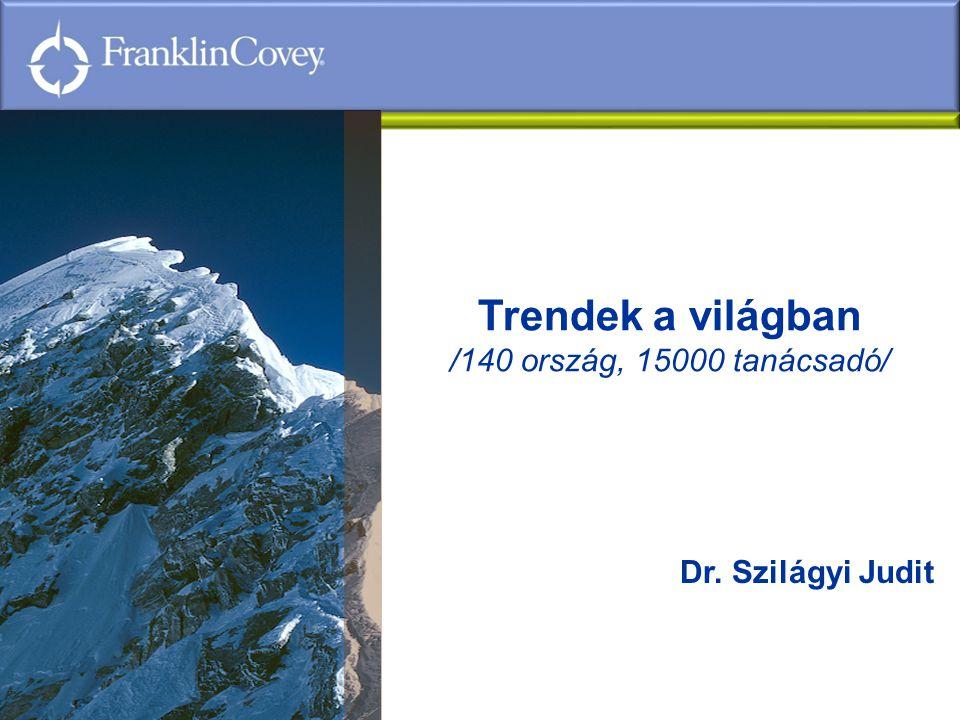 Trendek a világban /140 ország, 15000 tanácsadó/ Dr. Szilágyi Judit