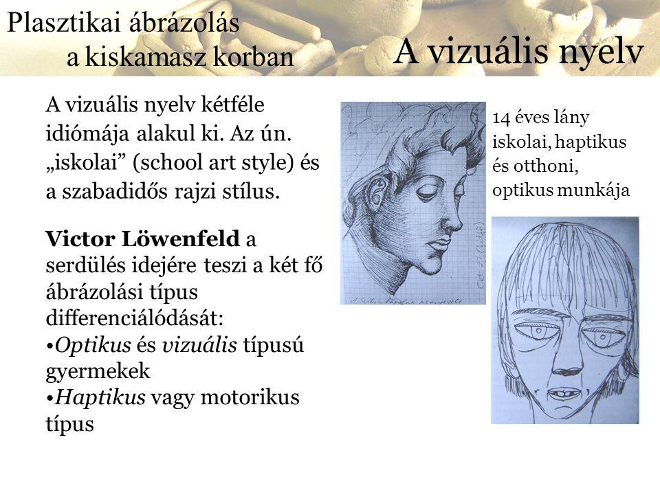 A vizuális nyelv Plasztikai ábrázolás a kiskamasz korban