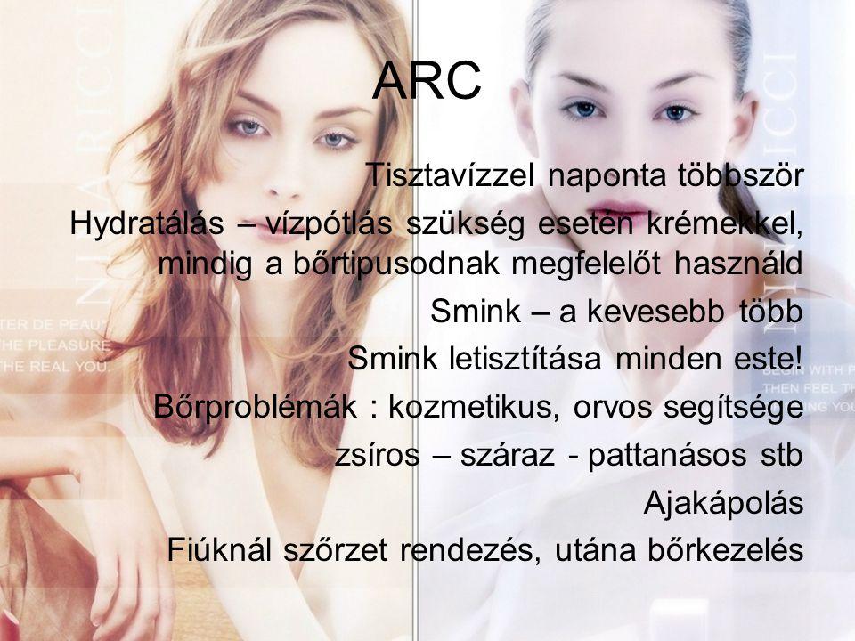 ARC Tisztavízzel naponta többször
