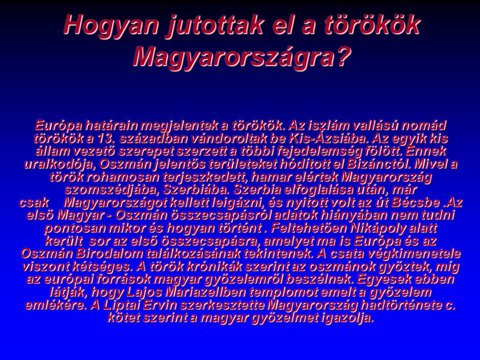 Hogyan jutottak el a törökök Magyarországra