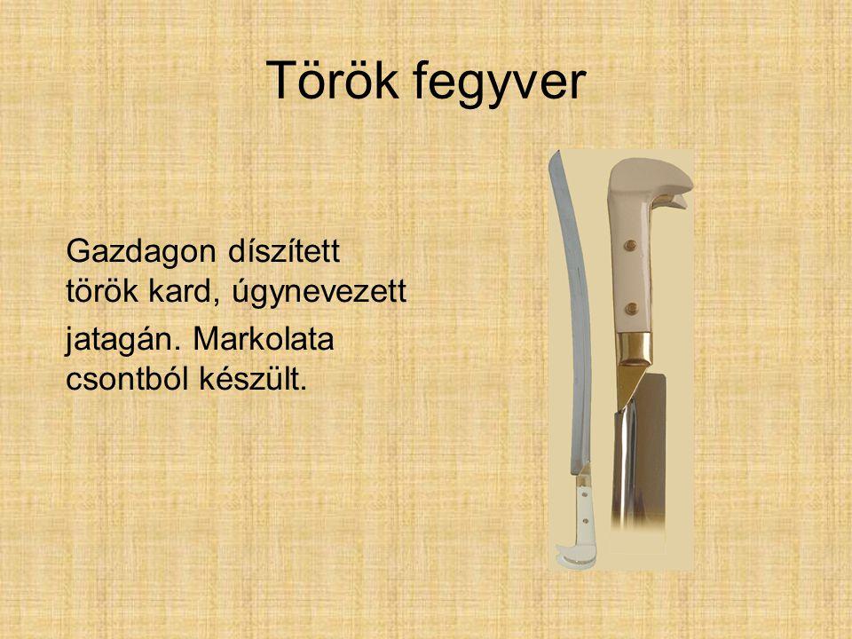 Török fegyver Gazdagon díszített török kard, úgynevezett