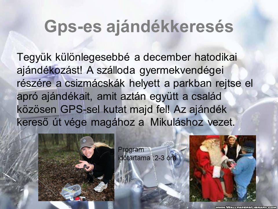 Gps-es ajándékkeresés