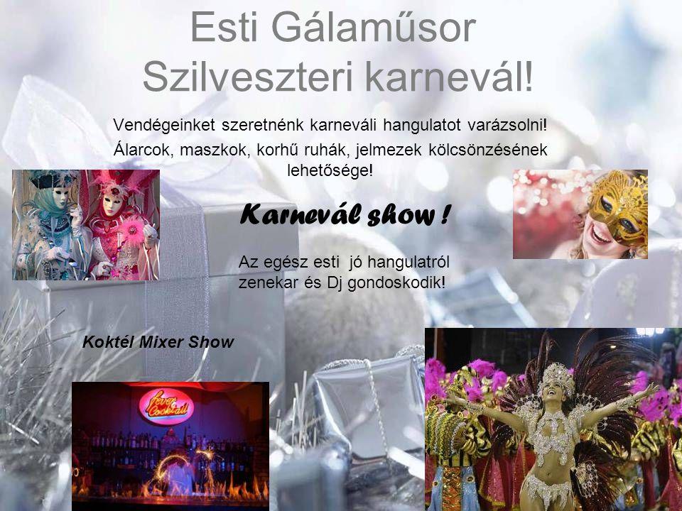 Esti Gálaműsor Szilveszteri karnevál!