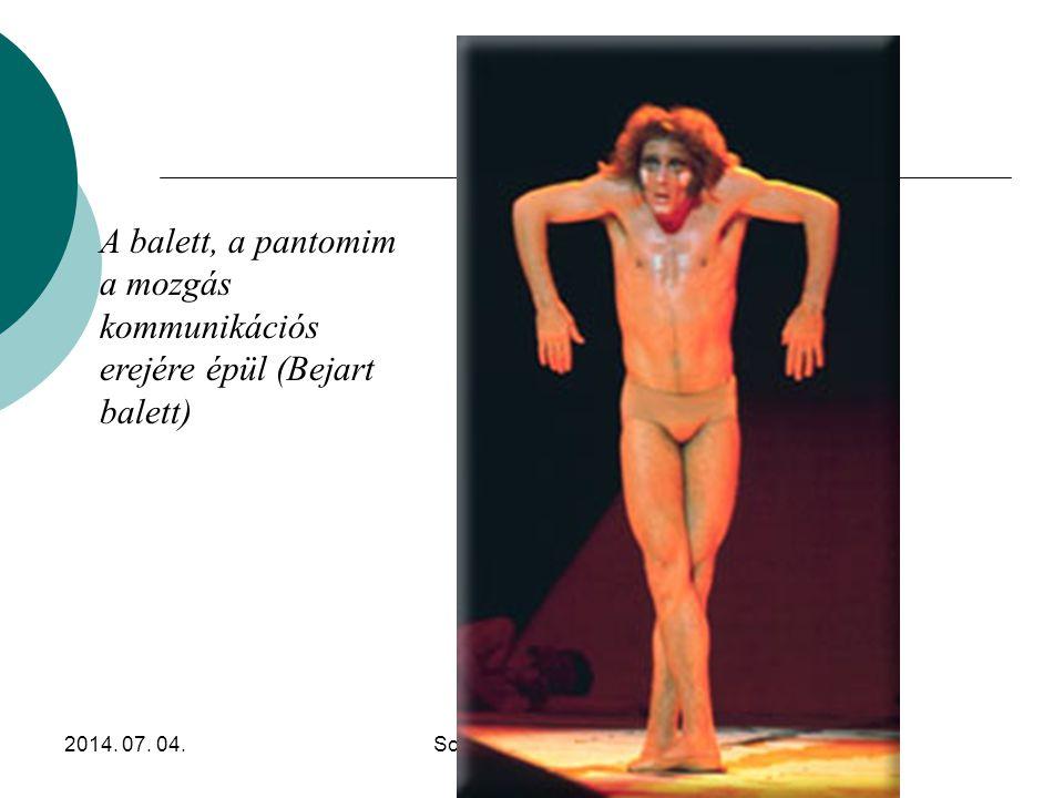 A balett, a pantomim a mozgás kommunikációs erejére épül (Bejart balett)
