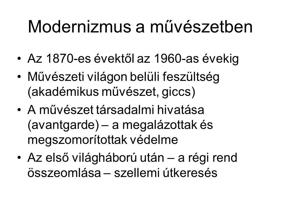 Modernizmus a művészetben