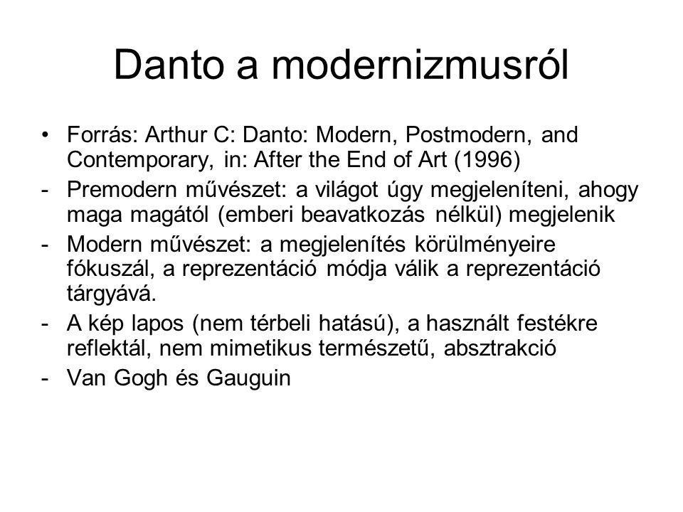 Danto a modernizmusról