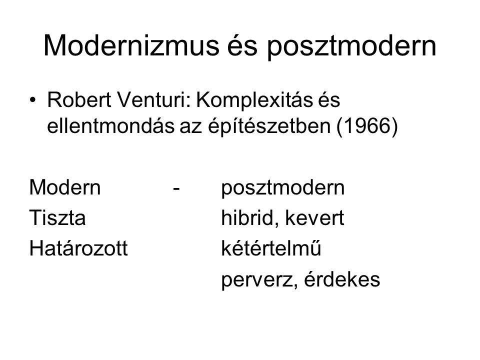 Modernizmus és posztmodern
