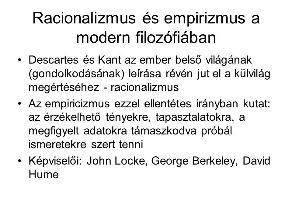 Racionalizmus és empirizmus a modern filozófiában