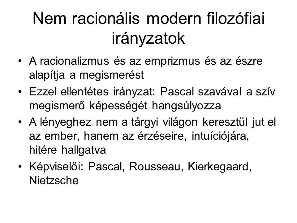 Nem racionális modern filozófiai irányzatok