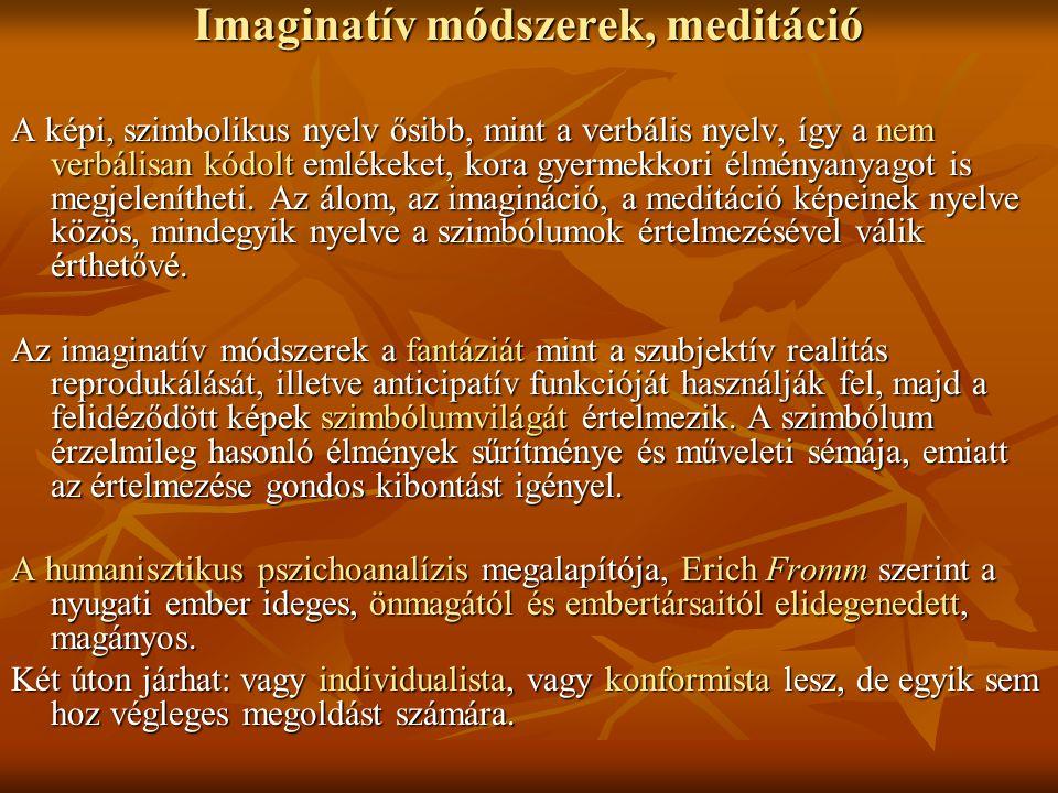 Imaginatív módszerek, meditáció