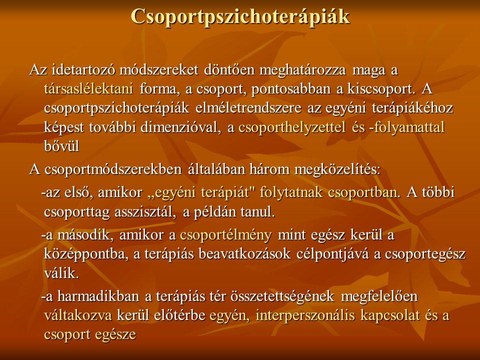 Csoportpszichoterápiák