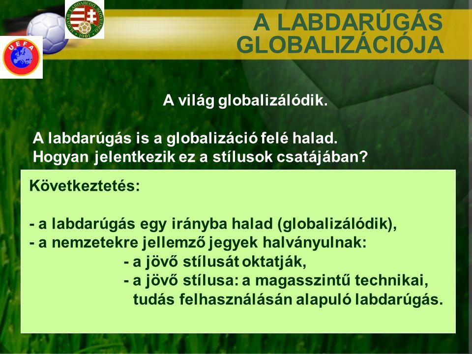 A LABDARÚGÁS GLOBALIZÁCIÓJA