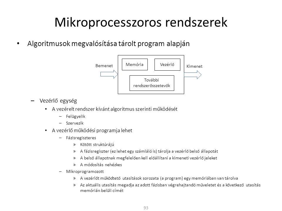 Mikroprocesszoros rendszerek