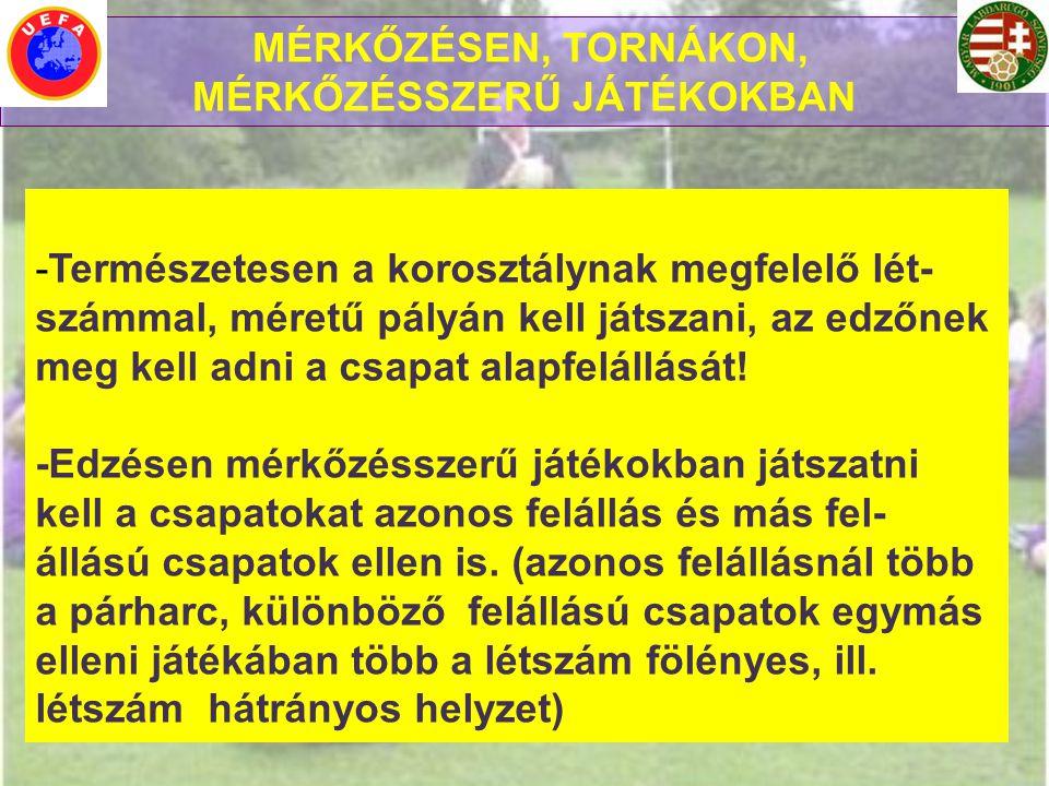 MÉRKŐZÉSSZERŰ JÁTÉKOKBAN