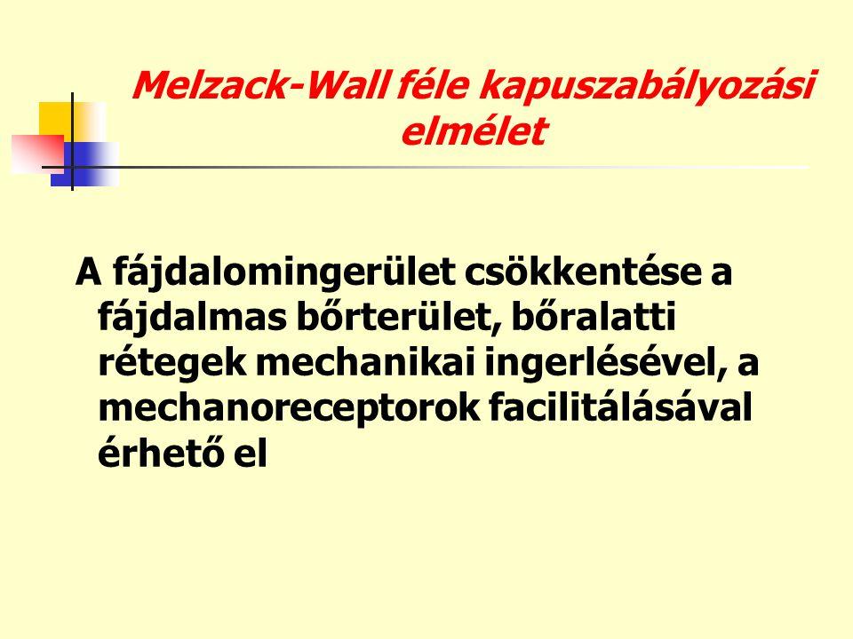 Melzack-Wall féle kapuszabályozási elmélet
