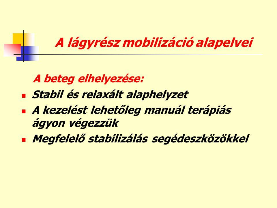 A lágyrész mobilizáció alapelvei
