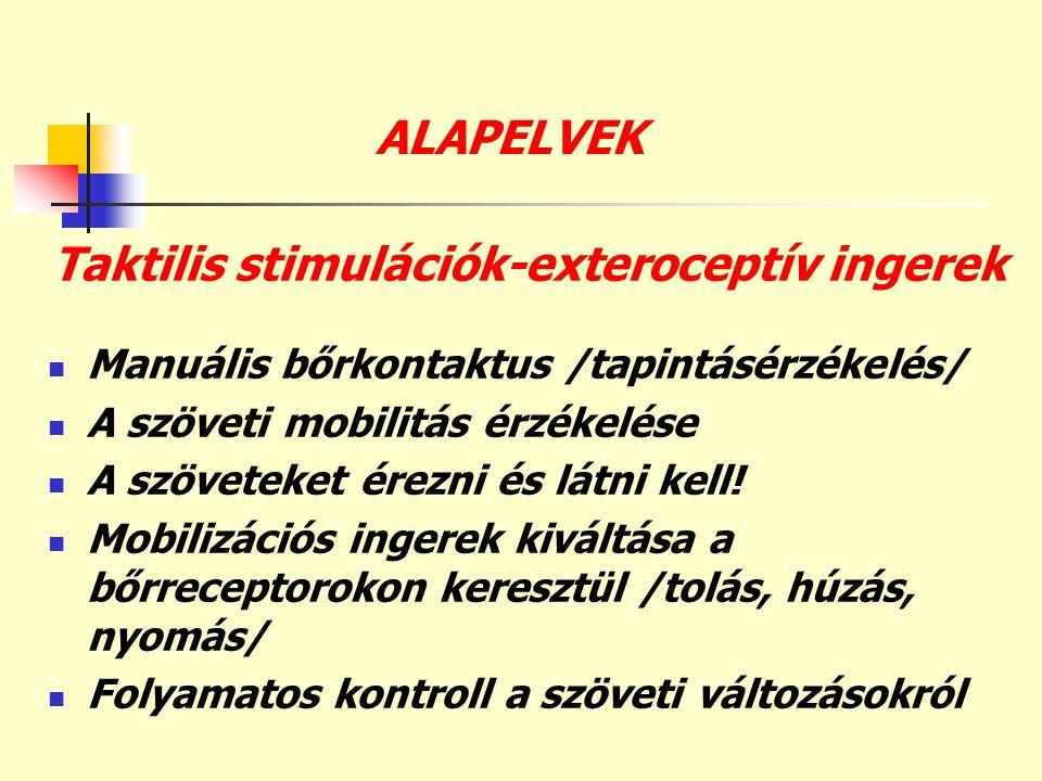 Taktilis stimulációk-exteroceptív ingerek