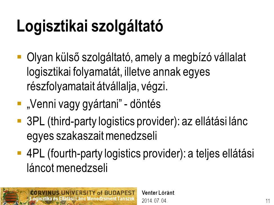 Logisztikai szolgáltató