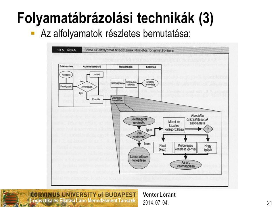 Folyamatábrázolási technikák (3)