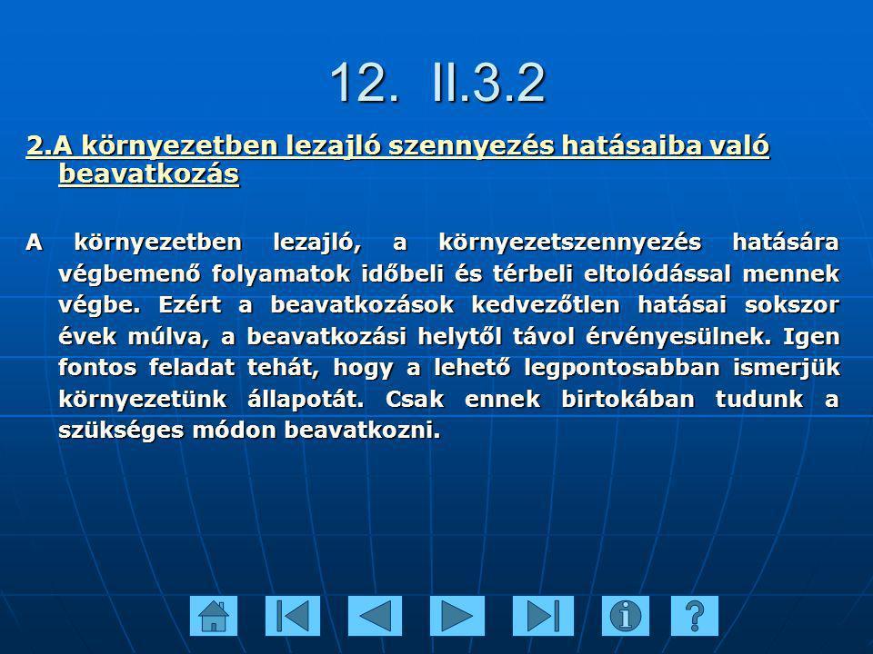 12. II.3.2 2.A környezetben lezajló szennyezés hatásaiba való beavatkozás.