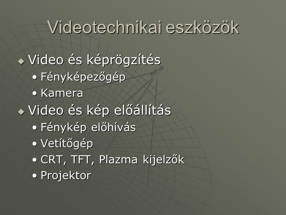 Videotechnikai eszközök