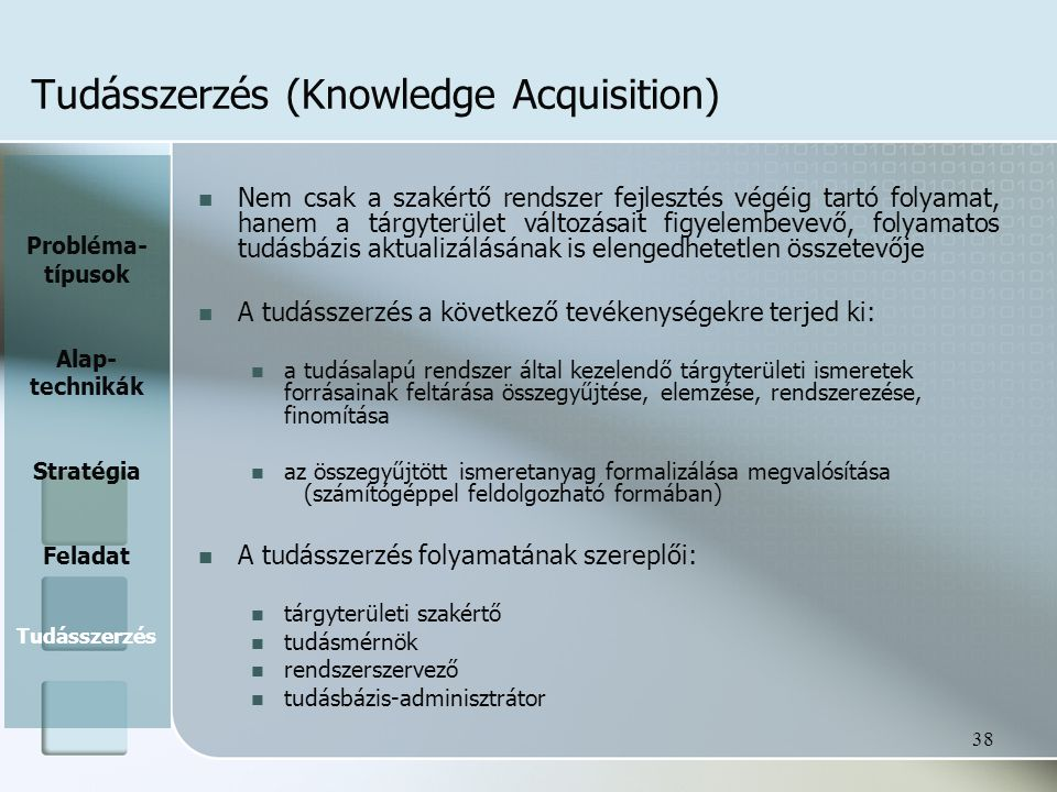 Tudásszerzés (Knowledge Acquisition)