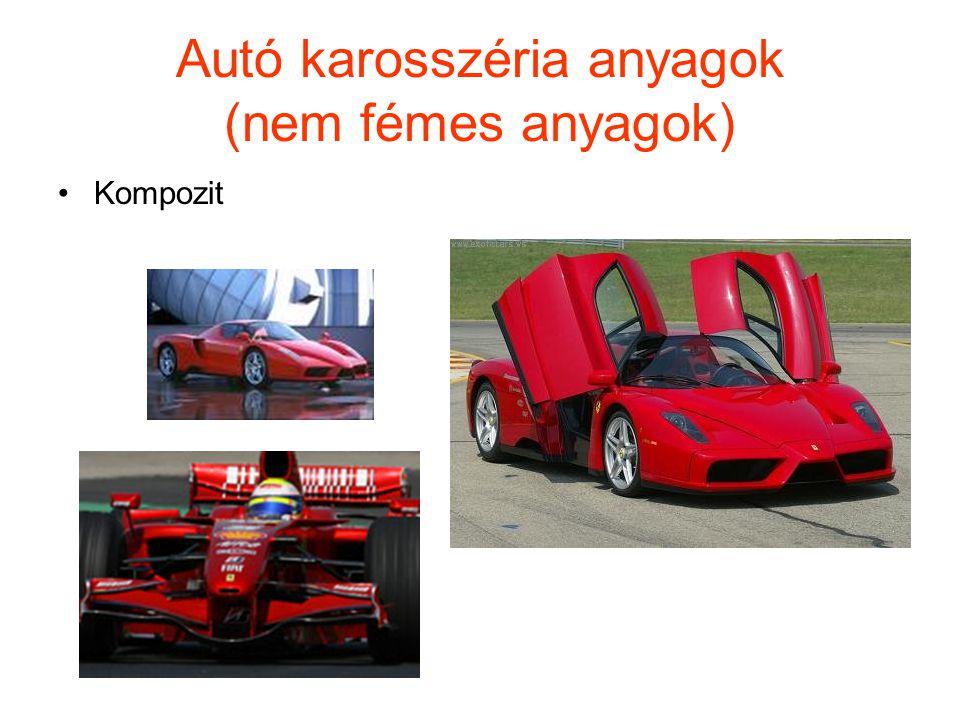 Autó karosszéria anyagok (nem fémes anyagok)