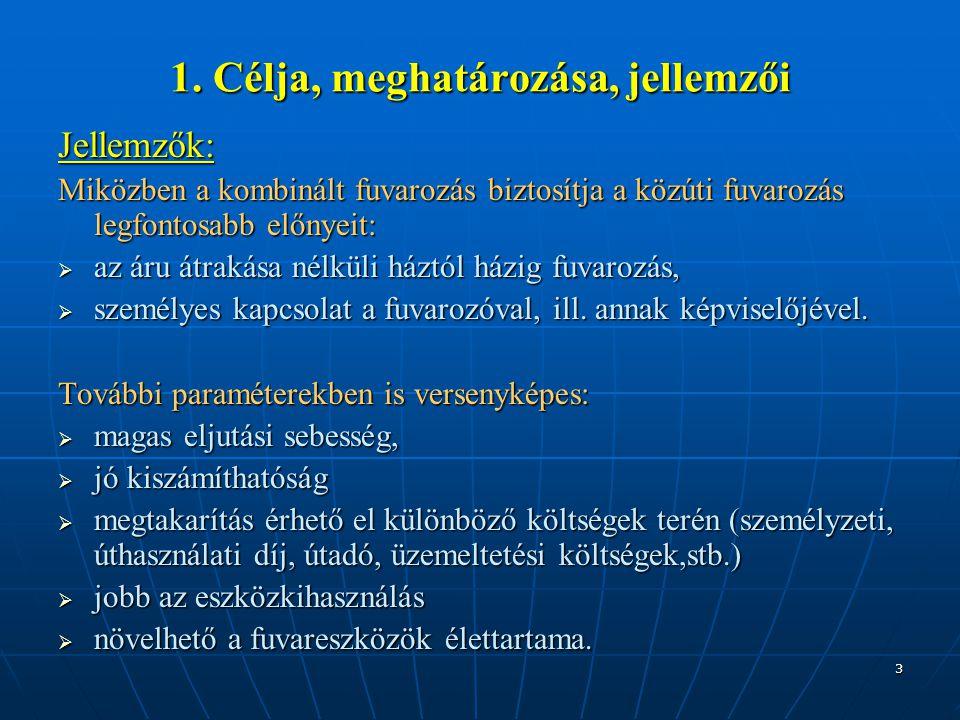 1. Célja, meghatározása, jellemzői