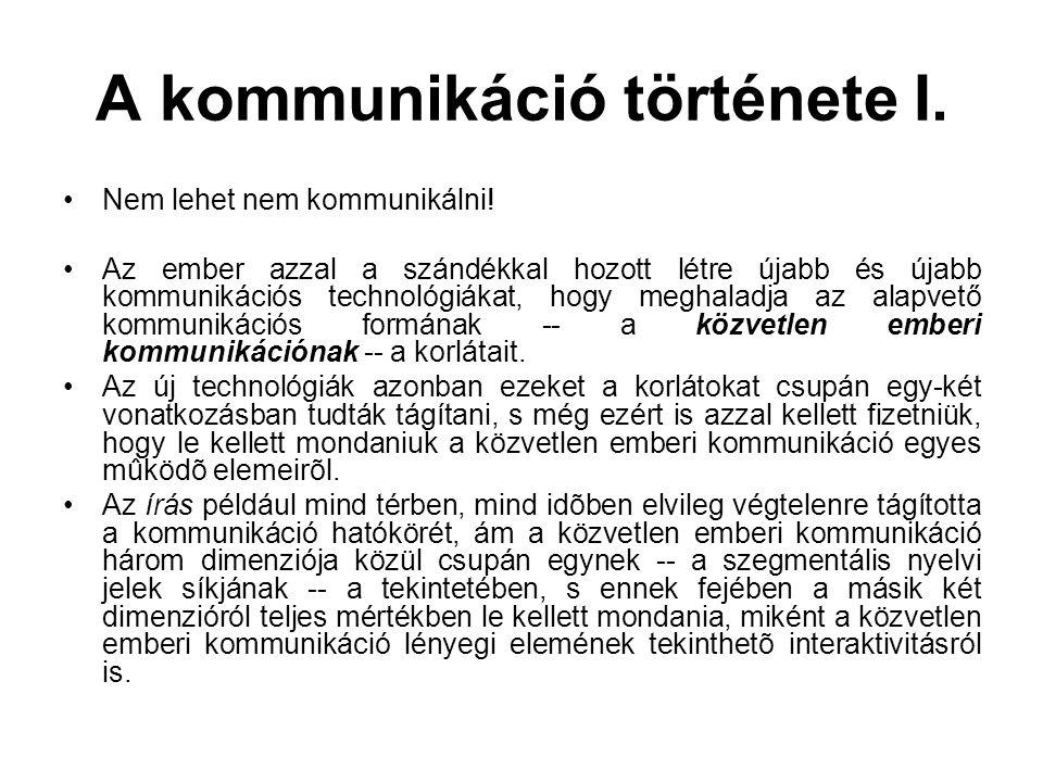 A kommunikáció története I.