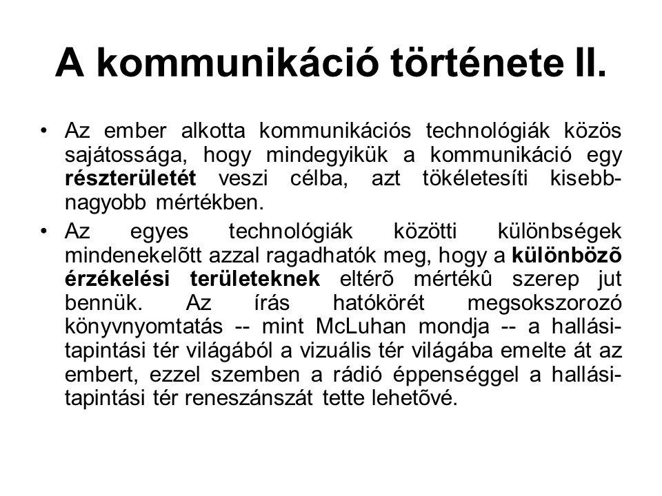 A kommunikáció története II.