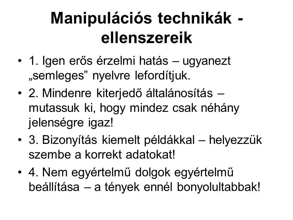 Manipulációs technikák - ellenszereik
