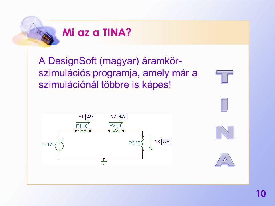 Mi az a TINA A DesignSoft (magyar) áramkör- szimulációs programja, amely már a szimulációnál többre is képes!
