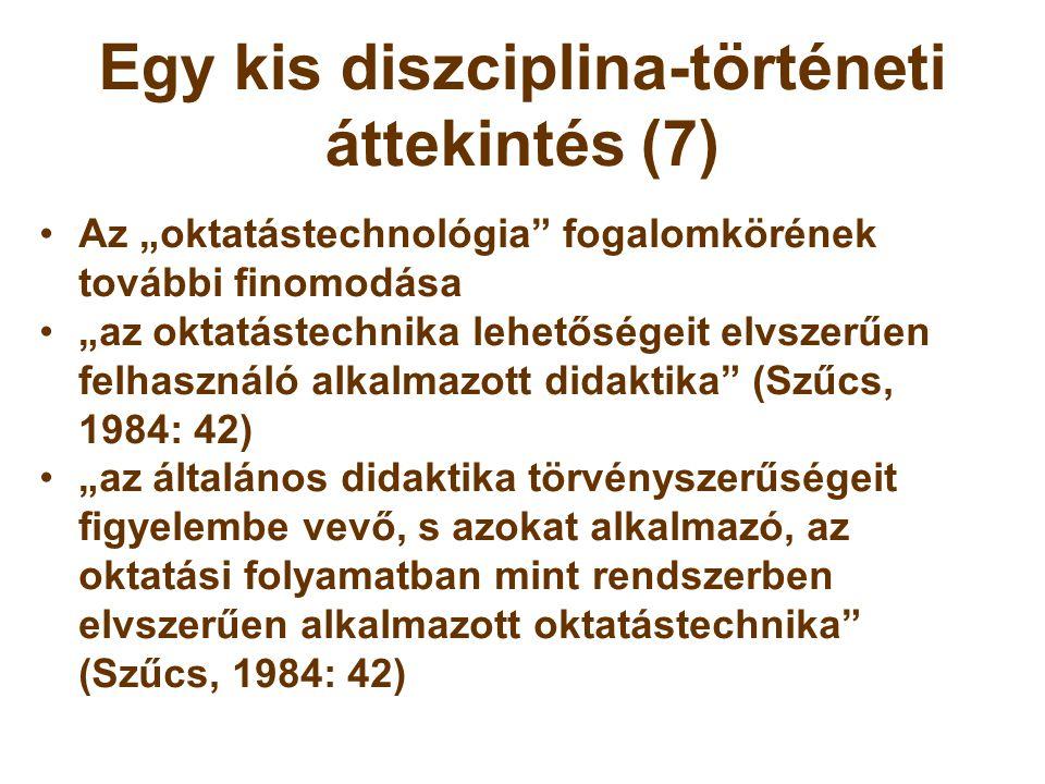 Egy kis diszciplina-történeti áttekintés (7)