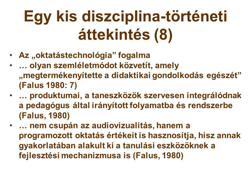 Egy kis diszciplina-történeti áttekintés (8)
