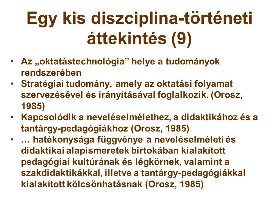 Egy kis diszciplina-történeti áttekintés (9)
