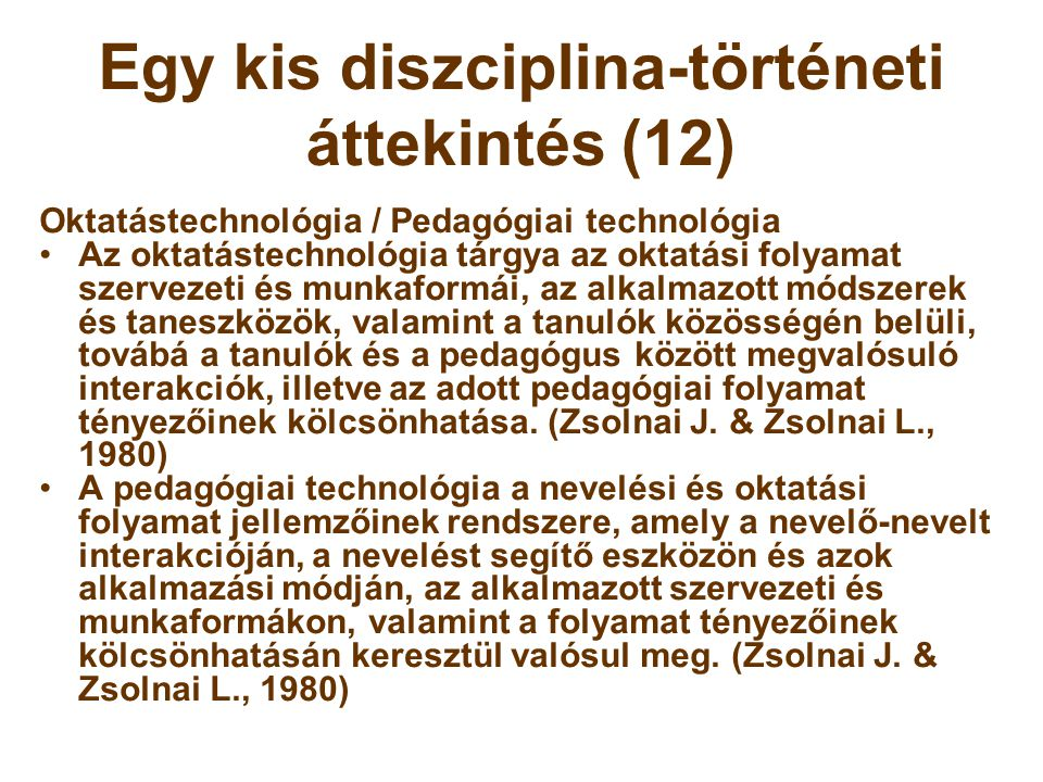 Egy kis diszciplina-történeti áttekintés (12)