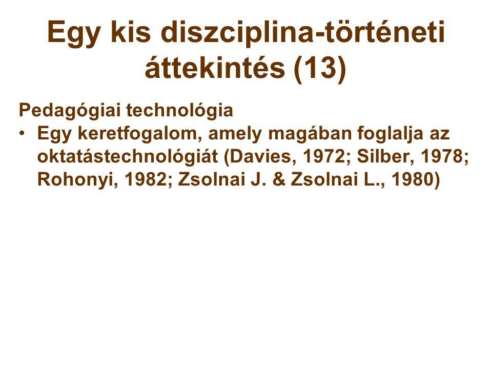 Egy kis diszciplina-történeti áttekintés (13)