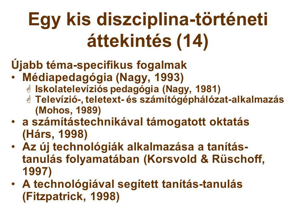 Egy kis diszciplina-történeti áttekintés (14)