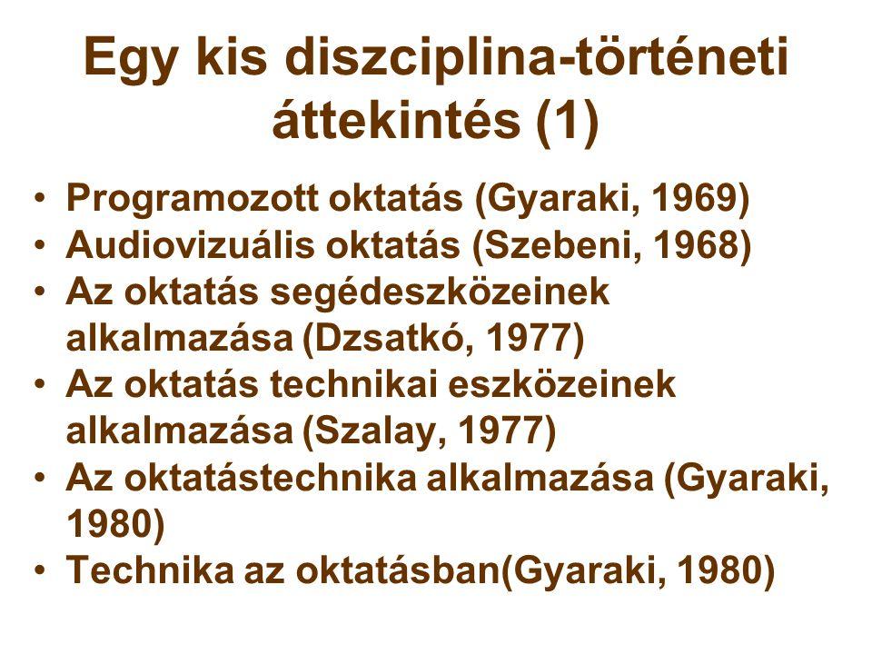 Egy kis diszciplina-történeti áttekintés (1)