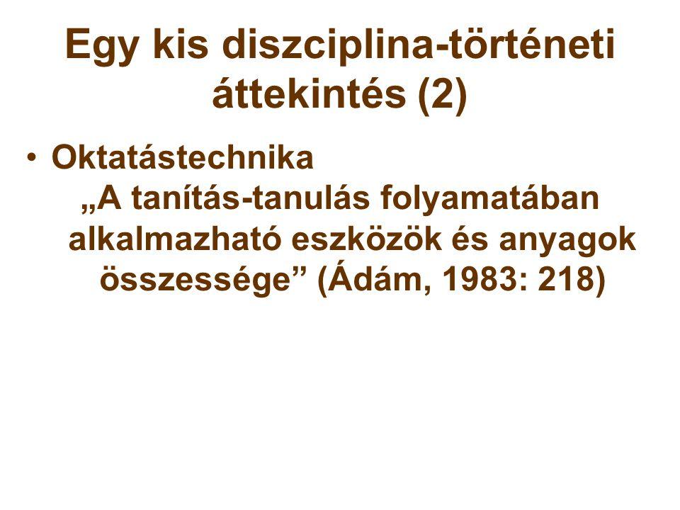 Egy kis diszciplina-történeti áttekintés (2)