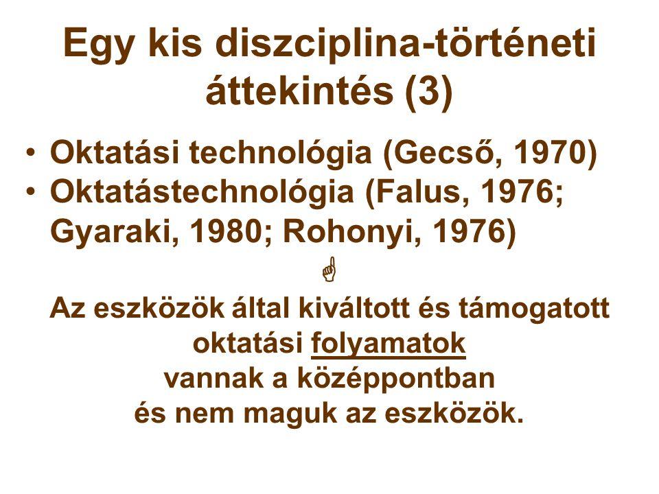 Egy kis diszciplina-történeti áttekintés (3)