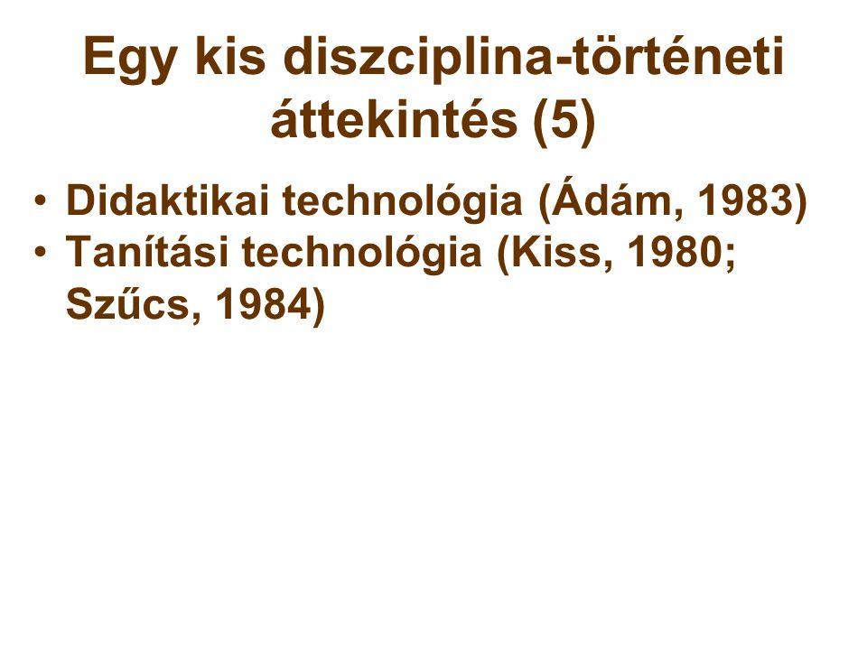 Egy kis diszciplina-történeti áttekintés (5)