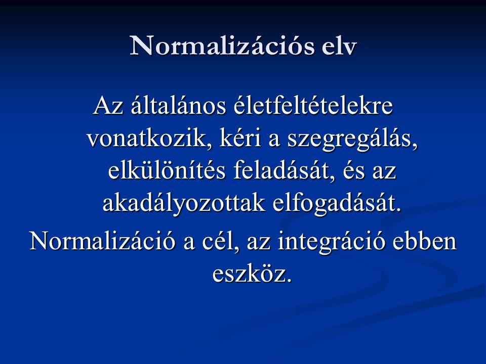 Normalizáció a cél, az integráció ebben eszköz.