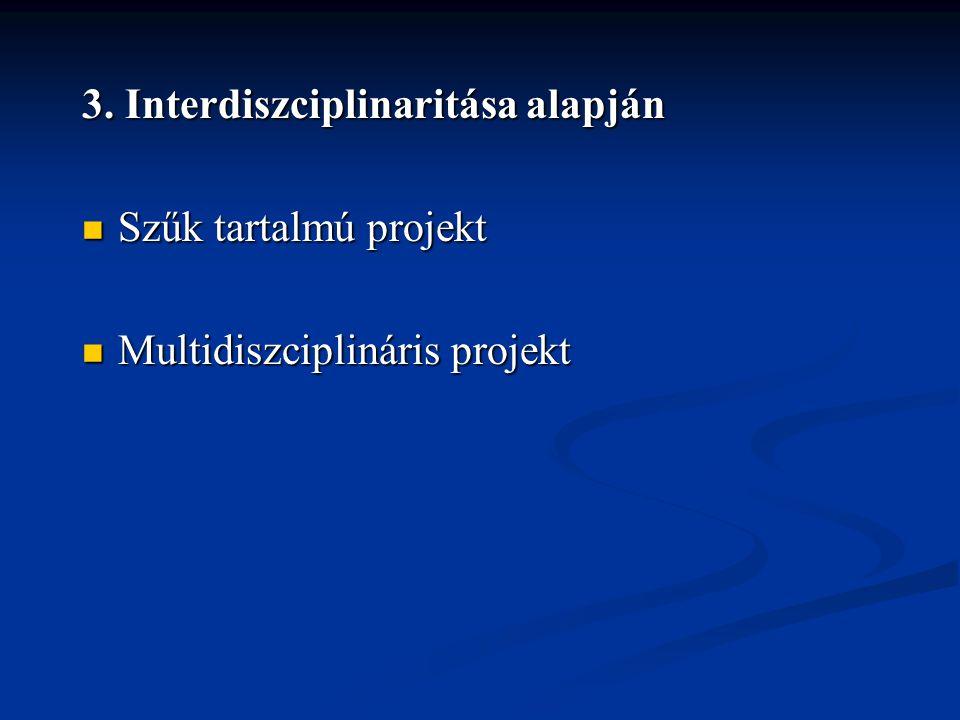 3. Interdiszciplinaritása alapján