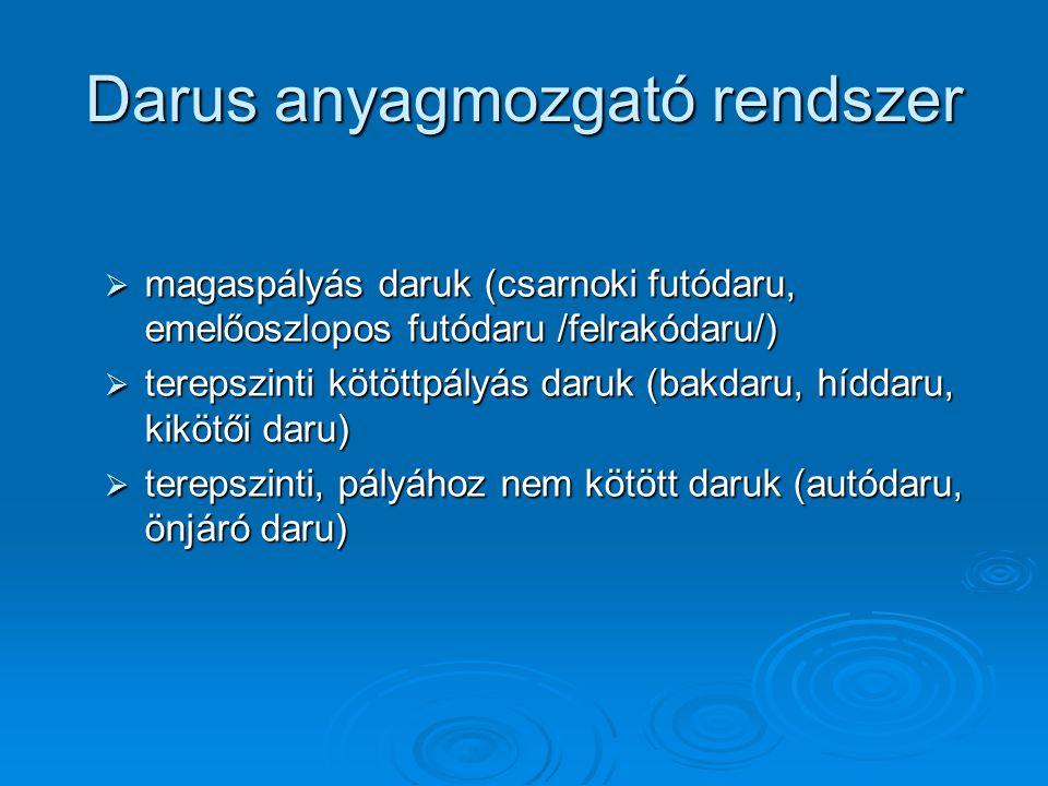 Darus anyagmozgató rendszer